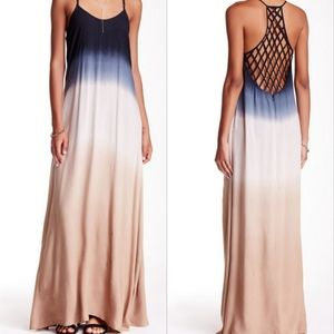 California Moonrise Caged Racerback Ombre Maxi